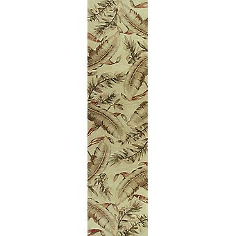 4'x6' Ivory Hand Tufted Tropical Leaves Indoor Area Rug