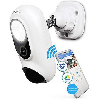 Sens8 kabellose berwachungskamera Auen mit WLAN und Sirene als Alarm – Auenkamera speichert