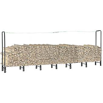 Brennholzregal Anthrazit 360x35x120 Cm Stahl