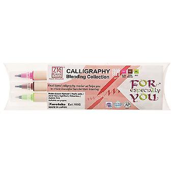 Kuretake Zig Calligraphy Pens - 3 Colour Blending Set - Gift