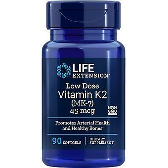 Livsforlængelse Lav dosis Vitamin K2 (MK-7) 45mcg Softgels 90