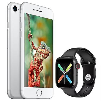 iPhone 7 Silver 128GB + Smartwatch X8 Black (Gift)