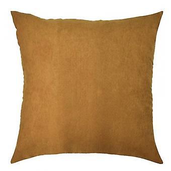 cushion 40 x 40 cm suede camel
