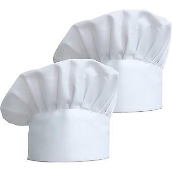 HanFei 2 stuck Kochmtze Unisex Koch Hut aus Poly Baumwolle Gastromtzen mit Einstellbar Gummiband