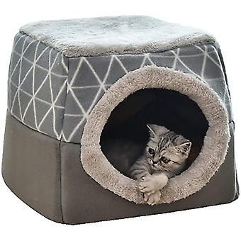 Cat Cave House Bed Pet Nest Sleeping Bag 2 In 1 Foldable Cuddly