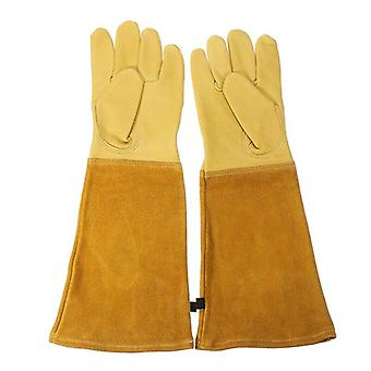 Heavy Duty Gardening Rose Pruning Gauntlet Gloves