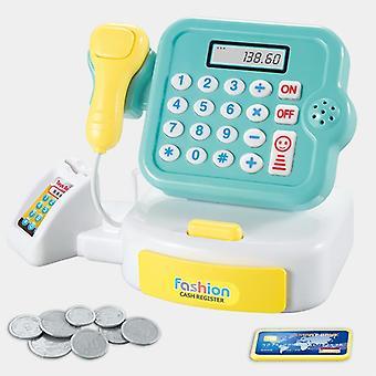 Lapset teeskentelevät simulaatio kassa kassa shopping cashier roolipeli setti, pelata