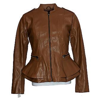 G.I.L.I. got it love it Women's Faux Leather Jacket Brown A310074