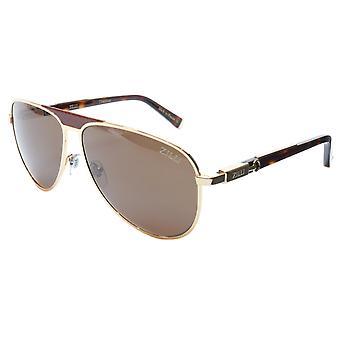ZILLI Sunglasses Titanium Acetate Leather Polarized France ZI 65021 C06