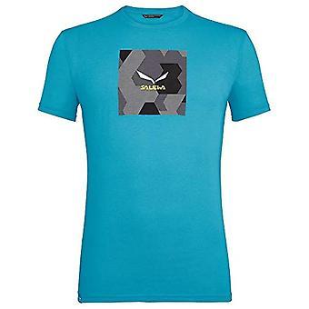 SALEWA Camoux Box, Men's T-Shirt, Blue Danube Melange, 46/S