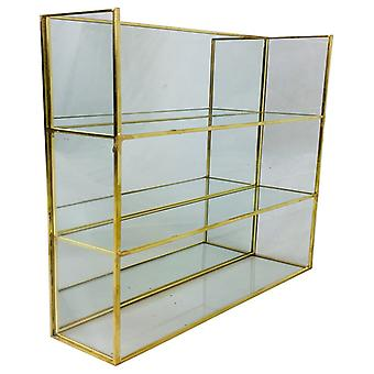 Unidad de estante de espejo de oro 28Cm