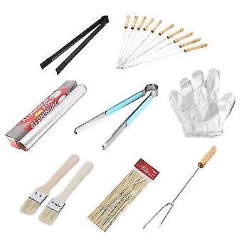 Für 8pcs Stahl Spieße BBQ Werkzeuge Set WS43075