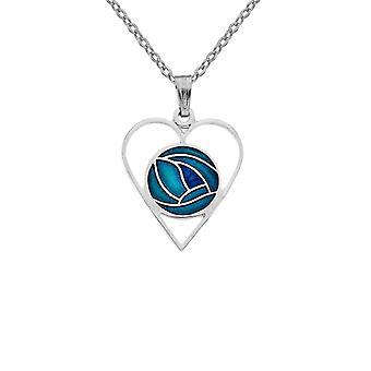 Sea Gems Mackintosh Ruusu sydän kaulakoru Turkoosi Sininen Riipus 723tqb
