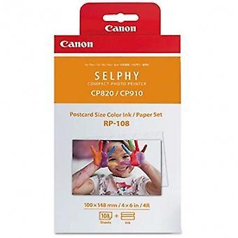 Canon RP-108IN Bläck/papper för Selphy CP1000-skrivare 4 x 6 vykortsstorlek x 108