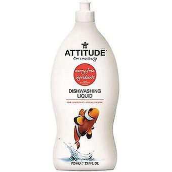 Attitude Dishwashing Liquid, Pink Grapefruit 23.7 Oz