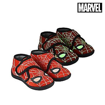 House Slippers Spiderman Red