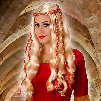 Wig with Braids Blonde