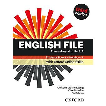 English File Elementary Students BookWorkbook MultiPack A with Oxford Online Skills by Oxford