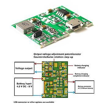 3.7V 9v 5v 2a adjustable step up module 18650 lithium battery charging discharge power module