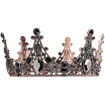 Gold Kuchen Krone Vintage Vintage Barock Queen Crown Crown Topper für Braut Hochzeit Prinzessin