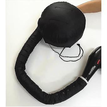Draagbare haardroger föhn cap super haardroger olie cap, doet geen pijn haar (zwart)