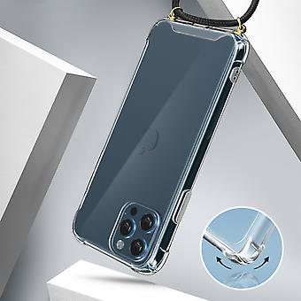 Cover Lanyard for Apple iPhone 12 Pro Max Flexible Neck Strap Clear