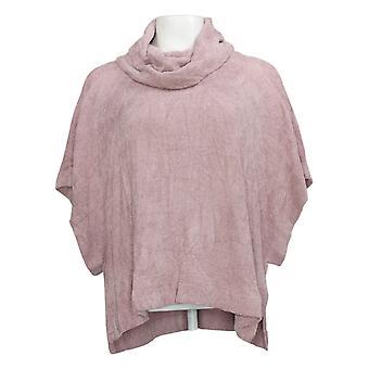 Barefoot Dreams Damen (XXS) CozyChic Cowl Neck Poncho Pink A373558