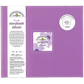 "Doodlebug Storybook D-Ring Album 12""X12"" - Lilac"