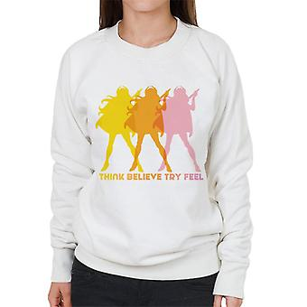 She-Ra Silhouette Think Believe Try Feel Women's Sweatshirt
