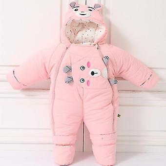 冷たい冬の暖かい服 - 新生児コートロンパーススノースーツ