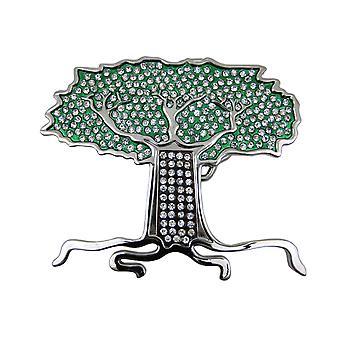 Fivela de strass incrustados árvore da vida