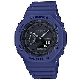 G-Shock Ga-2100-2aer Casioak Octagon Blue & Black Silicone Watch