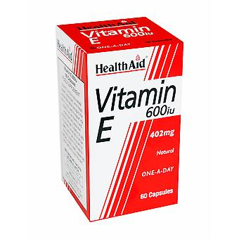 Health Aid Vitamin E 600iu Natural, 60 Capsules