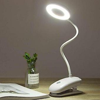 (Weißes Licht) Flexible LED-Licht USB-Klemme Clip auf Lesen Schule Tisch Schreibtisch Bett Nachtlampen