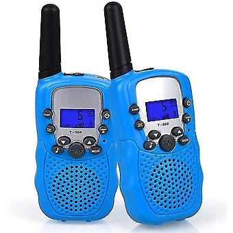 Intercoms little walkie talkie for children blue  2 rooms  small walkie talkie for kids  portable walkie