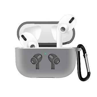 Für Airpods Pro3 Schutz mit Haken Bunte Apple Bluetooth 3. Silikon Kopfhörer (Grau)