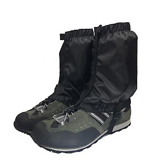 1 Paar Schnee Gamaschen leichte wasserdichte Knöchel Gamaschen für Outdoor-Wandern Klettern (schwarz)