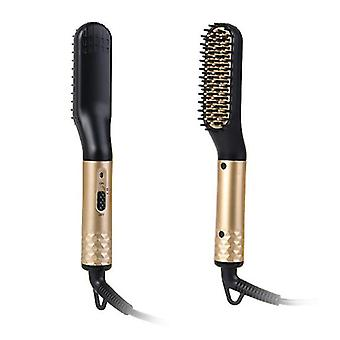 Hywell Comb de alisado, cepillo de barba eléctrico, cepillo de barba multifunción, peine de alisado de temperatura ajustable, protección antiescaldaduras para Ha