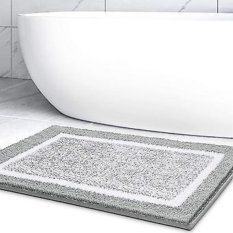 dusj vann absorberende bad teppe holdbare gulvmatter (grå)