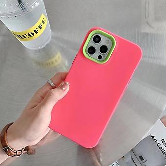 Three In One Liquid Phone Case,simple Contrastpink Iphone12