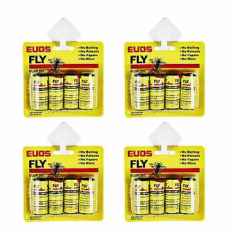 16 Pesticide Free Fly Paper, Sticky Fly Catchers Set For Indoor Or Greenhouse Use (16 Pack)