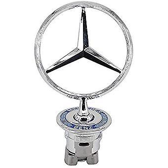 Vehicle Hood Star Emblem Badge Voor Mercedes Benz (blauwe Laurel Wreath)
