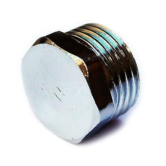"""3/8"""" 1/2"""" 3/4» BSP fil Chrome Pipe vis hexagonale mâle fiche Tube fin Cap plaque obturatrice"""
