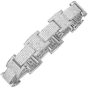 925 prata esterlina cubic zirconia bling pulseira