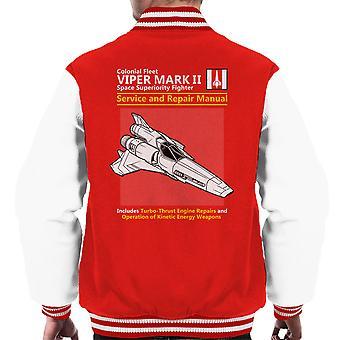 Battlestar Galactica Viper Service en reparatie handleiding mannen Varsity Jacket