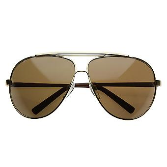 High Quality Full Frame Big X-Large Oversized Metal Aviator Sunglasses