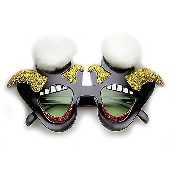Roześmiany Jester cyrkowy Clown uśmiech Furry Nowość okulary