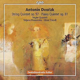 Dvorak / Vogler Quartett / Masurenko / Triendl - String Quintet Op 97: Piano Quintet Op 81 [CD] USA import