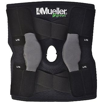 Mueller Green Adjustable Hinged Knee Brace - Black