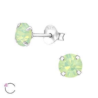 Runda Crystal från Swarovski® - 925 Sterling Silver öra dubbar - W34640x